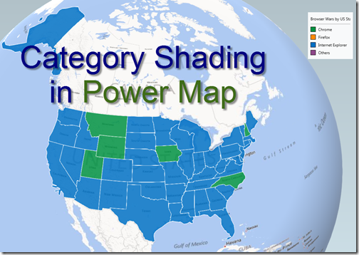 Category Shading for Regions in Power Map