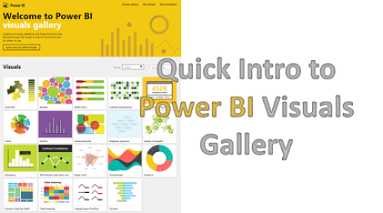 Quick Intro to Power BI Visuals Gallery